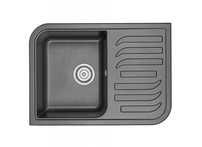 Кухонная мойка Graude QSS 45.0 обсидиан